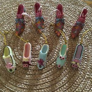 Shoe Christmas Ornaments. Set Of 9!